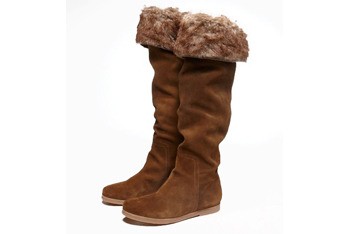Tall suede boots, $59.95, at American Eagle