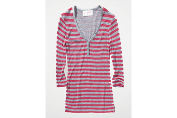 Striped henley shirt, $19.90, at GarageClothing.com