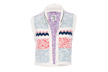 TNA Intarsia sweater vest, $85, at Aritzia.com