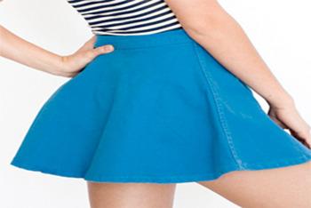 American Apparel Natural Denim Circle Skirt $45.00