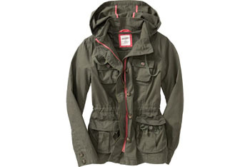 Old Navy Hooded Anorak Cargo Jacket $39.50