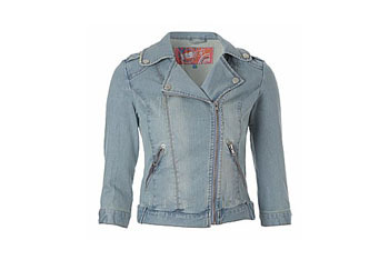 New Look Denim Biker Jacket $65