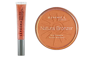 Sephora lipgloss and Rimmel Bronzer