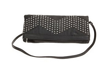 Urban Outfitters foldover studded clutch bag $36