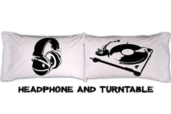 Pillow Cases Headphone/Turntable