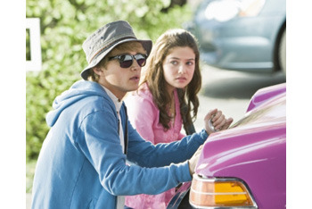 Sterling Knight and Danielle Campbell in Starstruck