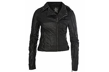 Pyramid Studded Biker Jacket, New Look, $30