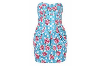 Tulip Spot Prom Dress, New Look, $28