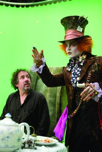 Johnny Depp with director Tim Burton