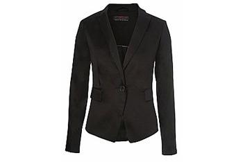 Black sateen blazer from New Look, $35