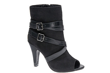 Peep toe boots from Spring Shoes, $69