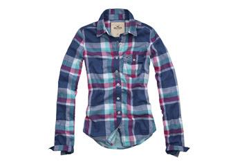 Moonlight Beach plaid shirt from Hollister, $39