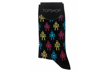 Robot socks from Topshop, $5
