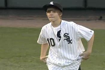 Justin Bieber's First Pitch