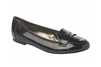 Black patent loafers from New Look, $20