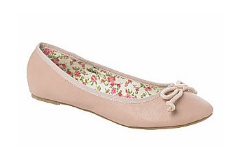 Bow ballet flats from New Look, $17