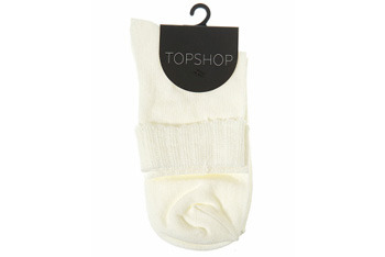 Frilly turn over ankle socks from Topshop, $5