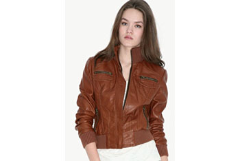 Faux brown leather jacket from Asos.com, $60