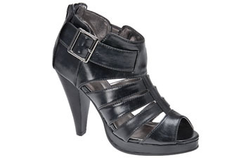 """Feliu"" black strappy heels with buckle from MySpringShoes.com, $29"