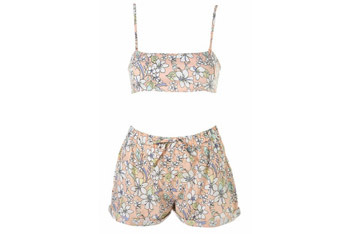 Tropical print crop and shorts from Topshop.com, $55