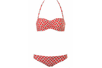 Strawberry bandeau bikini from Topshop.com, $50
