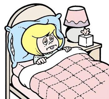 At home sick
