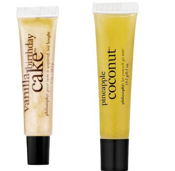 Philosophy Lip Shine in Pineapple Coconut and Vanilla Birthday Cake, $10