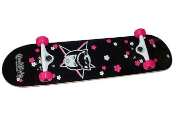 Cat Girl Flower Power Skateboard from www.Coolgirldecks.com, $96