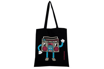 Boom Box tote from Lazyoaf.co.uk, $10