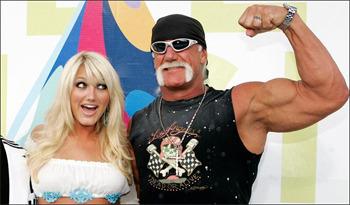 Brooke Hogan and Hulk Hogan