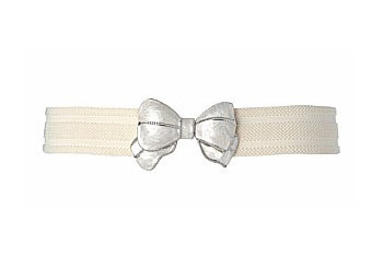 Enamel bow stretch belt from NewLook.com, $8