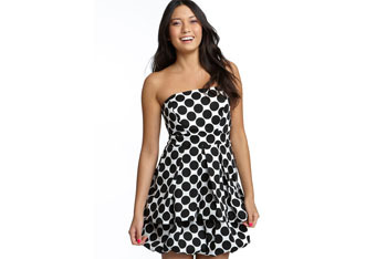 Ruby Rox strapless polka dot dress from Nordstrom, $33.90
