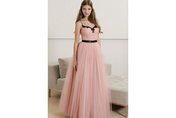 Tulle ballgown with shirred bodice from GroupUSA.com, $129.99