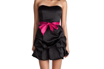 Satin pick-up tube dress from Charlotte Russe, $34