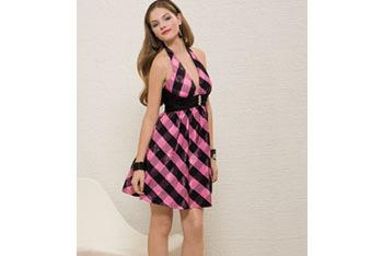 Taffeta plaid short dress from GroupUSA.com, $89.99