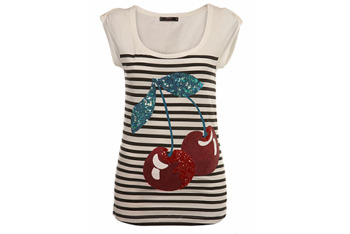 Sequin Cherry tshirt from Miss Selfridge, $30