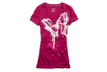 Butterfly tshirt from American Eagle, $17.50