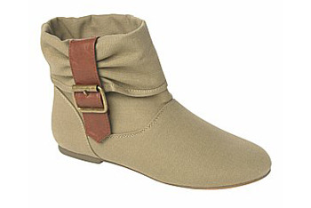 Canvas ankle boots from New Look, $40