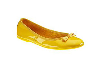 "Yellow Michelle D ""Juliet"" flat from Dillards, $39.99"