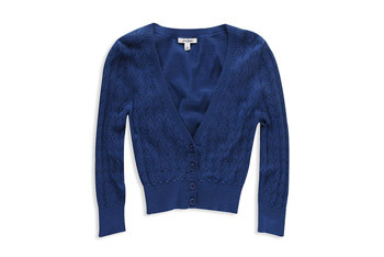 Pointelle peak sweater cardigan from Forever 21, $18.90