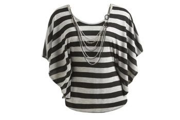 Stripe dolman top from Wet Seal, $26