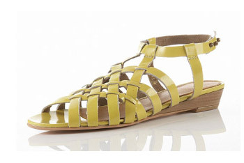 """Nelly"" weaved yellow sandals from Topshop.com, $30"