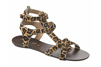 Leopard print animal sandals from NewLook.com, $40