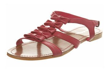 Fuschia bow gladiator sandal from MissSelfridge.com, $40