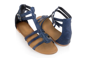 Palletize leatherette blue sandals from Forever21.com, $16.80