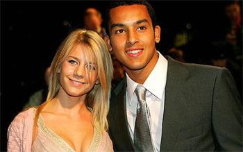 Melanie Slade and Theo Walcott