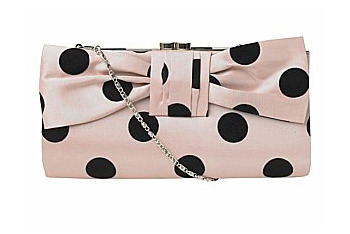 Polka dot clutch bag from NewLook.com, $15