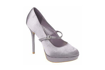 Silver mary janes from NewLook.com, $20