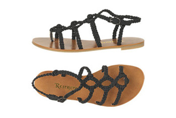 Restricted folklore gladiator sandal from Delias.com, $34.50