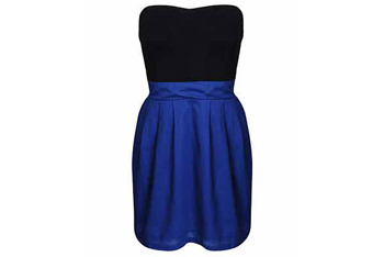 Fab strapless contrast dress from Forever21.com, $14.50
